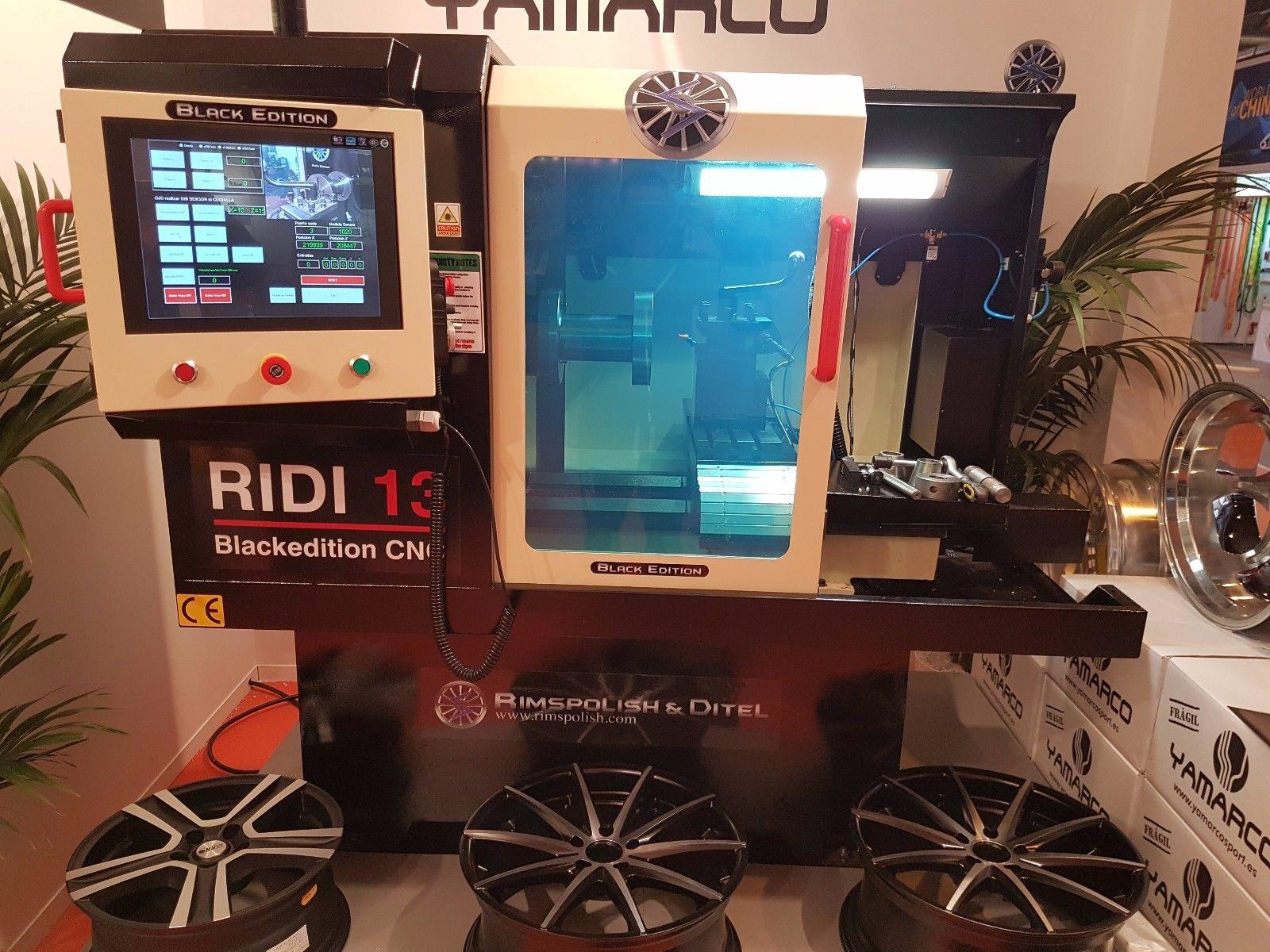 RIMSPOLISH RIDI 13 Black Edition CNC-Anlage zum Glanzdrehen von Alufelgen